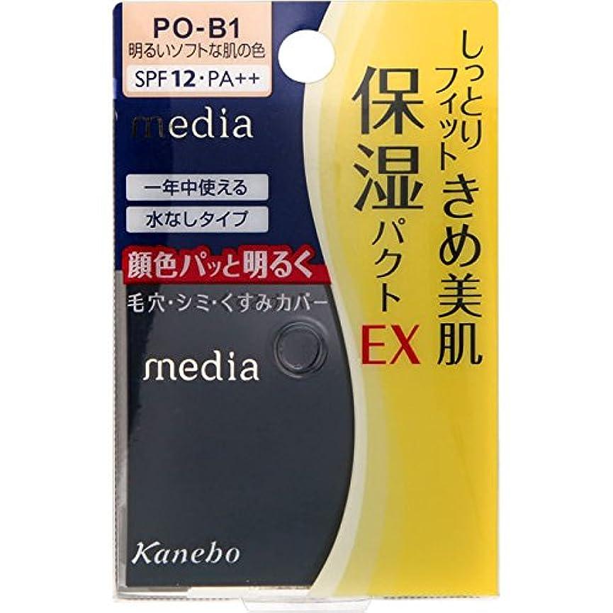厚いパテローブカネボウ メディア モイストフィットパクトEX PO-B1(11g)