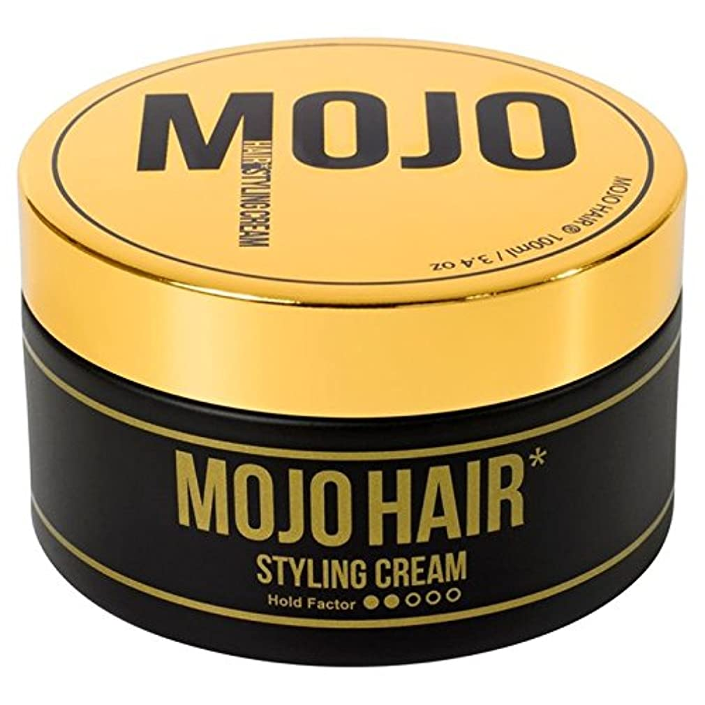 100ミリリットル男性のためのモジョのヘアスタイリングクリーム x4 - MOJO HAIR Styling Cream for Men 100ml (Pack of 4) [並行輸入品]