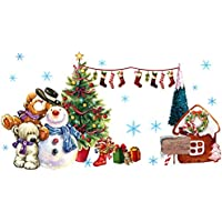 OUYOU ウォールステッカー クリスマス クリスマス 飾り 剥がせる シール式 装飾 ツリー 壁紙 雑貨 ガラス 窓 DIY サンタ 部屋 店舗装飾
