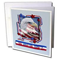 ビバリーターナーMemorial Dayデザイン – Memorial Day Patriotic Eagle – グリーティングカード Set of 12 Greeting Cards