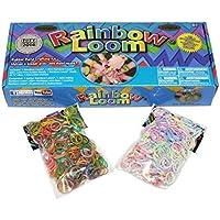 レインボールーム(Rainbow Loom) 2.0 日本語マニュアル PL保険適用商品 ルームバンド1200本セット【並行輸入正規品】