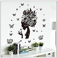 Weaeo ファッション黒花ポケモンウォールステッカーデカールアートガールキッドルームのリビングルームのホームデコレーション壁紙ポスター