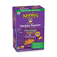 Annie's Organic オーガニック Cheddar Bunnies Baked Snack Crackers, 12 ct (Pack of 4)