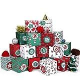 Kesote アドベントカレンダー 2020 ギフトボックス クリスマスカレンダー ラッピング箱 カウントダウン ボックスカレンダー プチギフト プレゼント ペーパーボックス クリスマス飾り Christmas Advent Calendar