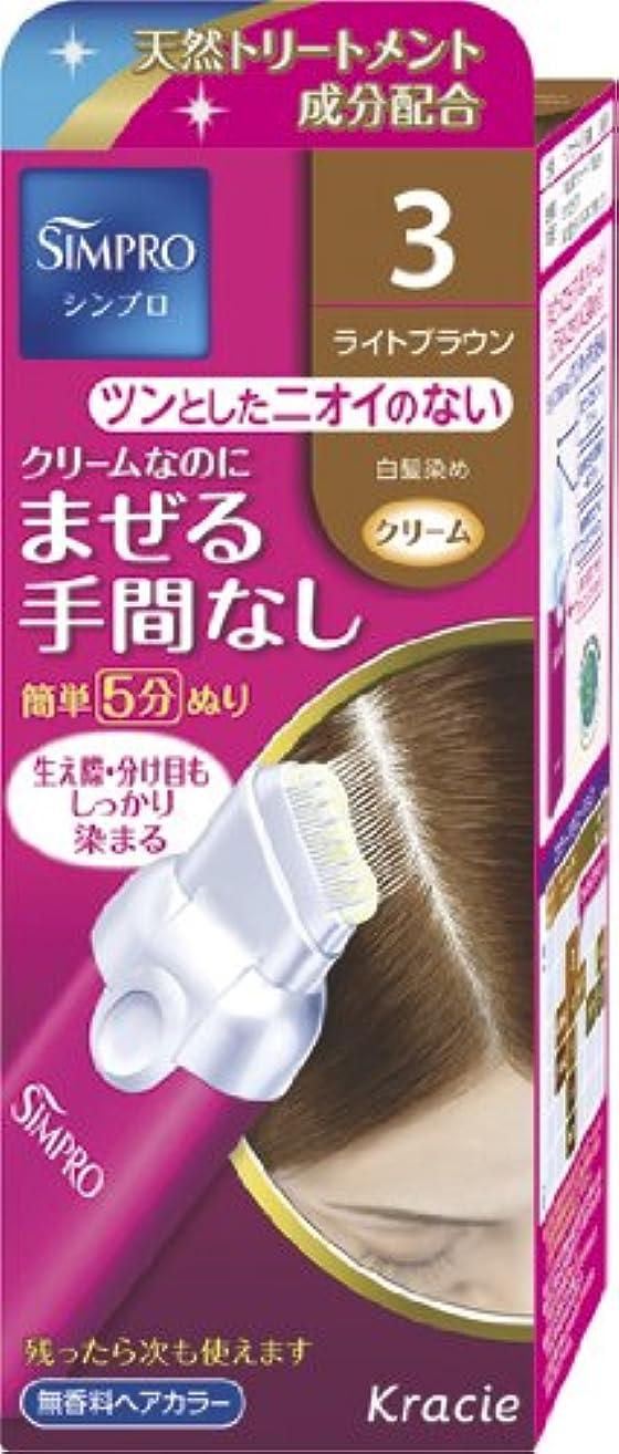 シンプロ ワンタッチ無香料ヘアカラー 3