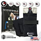"Mission Darkness Faraday Bag for Keyfobs // Device Shielding for Smart ""Always On"" Keyfobs for Automobile Owners, Law Enforcement, Military, Executive Privacy, Travel Security, Anti-hacking Assurance"