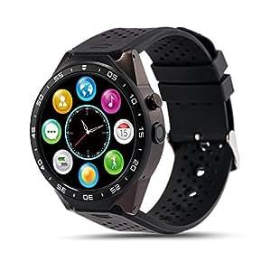 LEMFO KW88 3G WIFI Smart Watch メッセジー通知 遠隔カメラ 歩数計 心拍モニター GPS定位 Google地図 Wechat 一体腕時計 Android 5.1対応 (グレー+黒) [並行輸入品]