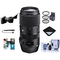 Sigma 100–400mm f5–6.3DG OS HSMレンズfor Nikon DSLR Cameras–Bundle with 67mmフィルタキット、レンズクリーニングキット、ラップ、Flexレンズシェード、Capleash II、ソフトウェアパッケージ、