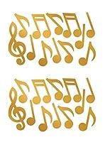 Beistle 55295-gd、24ピースFoil Musical Noteシルエット、12インチ–21インチ(ゴールド)