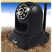 IPアドレスで 監視 全スマホ と iPhone や iPadや PC で遠隔操作 できる 防犯カメラ  暗視 音声機能 もぐらカメラ