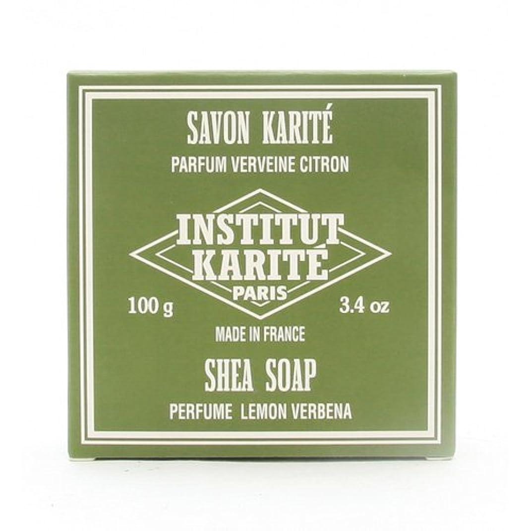 咳消費肘掛け椅子INSTITUT KARITE インスティテュート カリテ 25% Extra Gentle Soap ジェントルソープ 100g Lemon Vervenaレモンバーベナ
