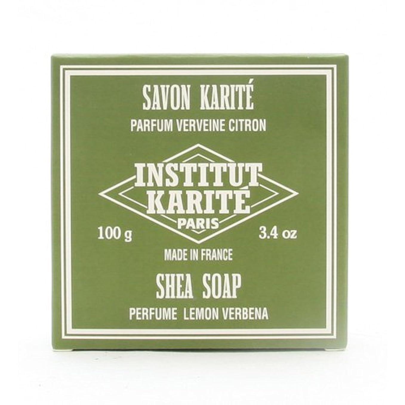 印象的水っぽい必需品INSTITUT KARITE インスティテュート カリテ 25% Extra Gentle Soap ジェントルソープ 100g Lemon Vervenaレモンバーベナ