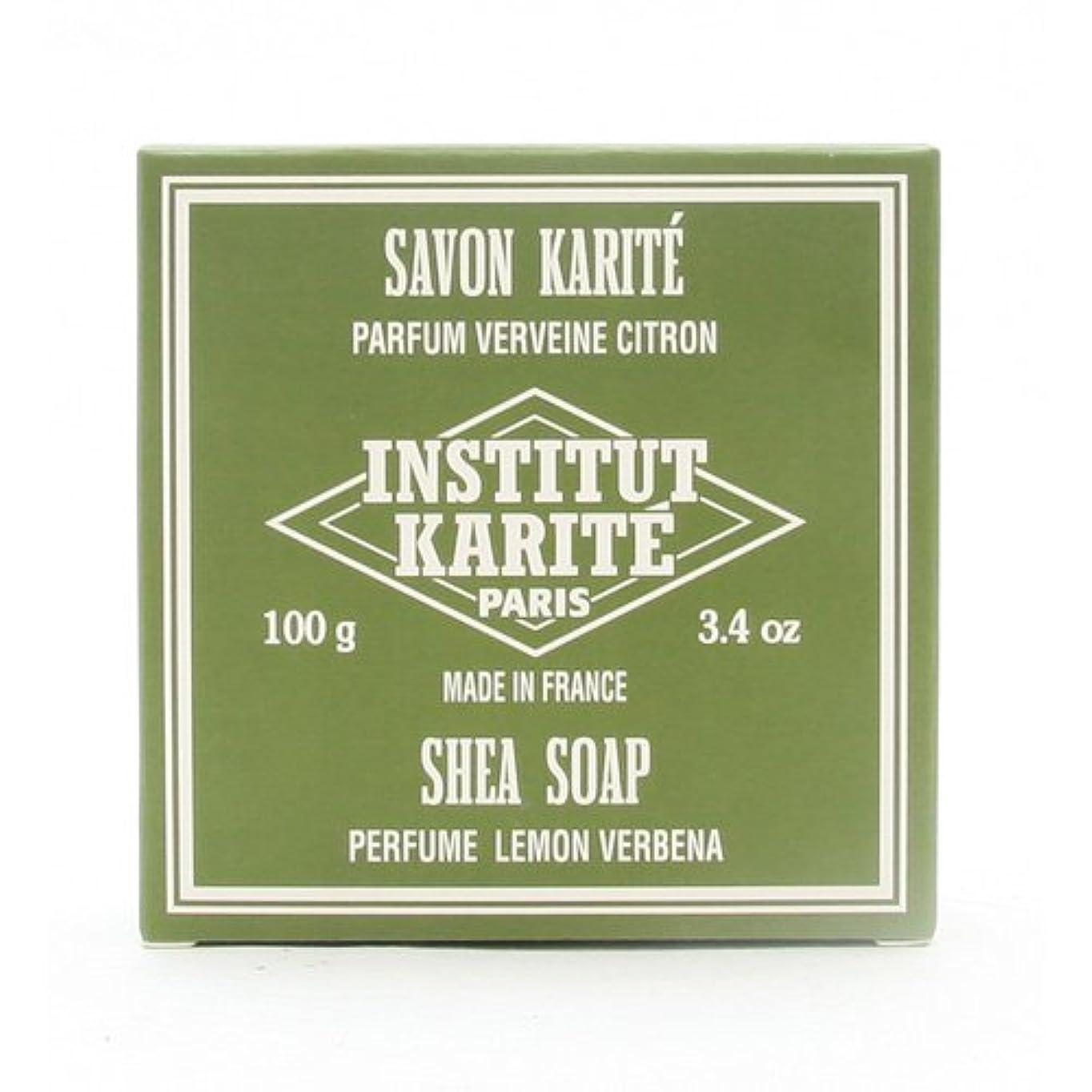上にビリー収容するINSTITUT KARITE インスティテュート カリテ 25% Extra Gentle Soap ジェントルソープ 100g Lemon Vervenaレモンバーベナ