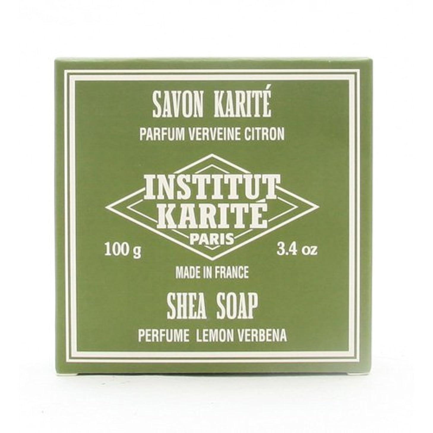 食器棚障害測定INSTITUT KARITE インスティテュート カリテ 25% Extra Gentle Soap ジェントルソープ 100g Lemon Vervenaレモンバーベナ