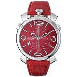 ガガミラノ 腕時計 GAGA MILANO THIN CHRONO 46MM ステンレス 時計 5097.04RD メンズ [正規品]