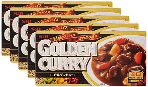 ゴールデンカレー 辛口 198g×5個