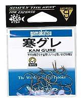 がまかつ(Gamakatsu) 寒グレ フック 茶 6号 釣り針
