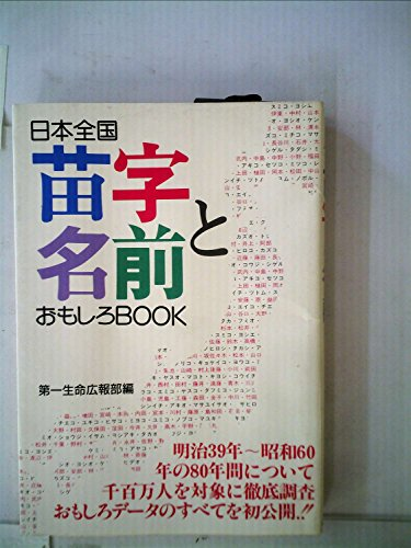 日本全国苗字と名前おもしろbook