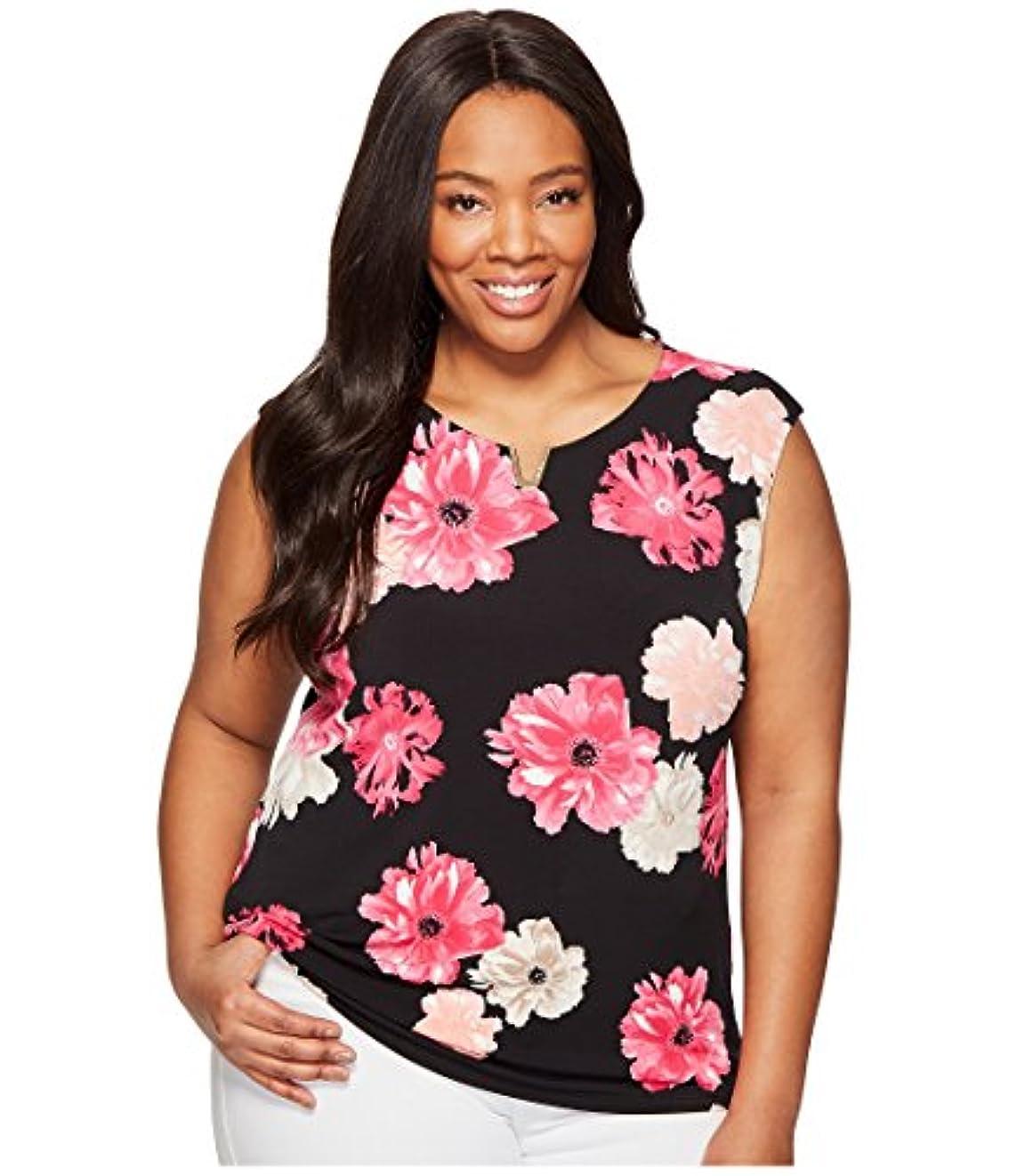 高揚した革命懐疑論[カルバンクライン] Calvin Klein Plus レディース Plus Size Printed Extended Shoulder with Hardware トップス [並行輸入品]