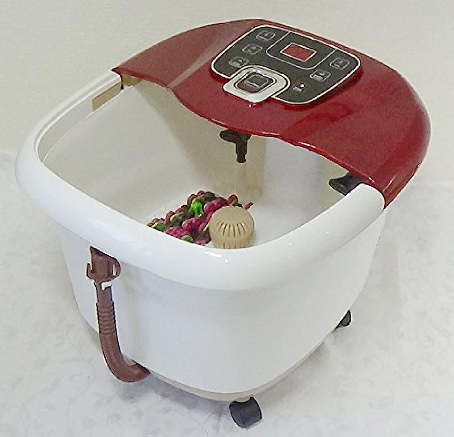 エンディング取り組む添加足湯器 Foot Spa マカナ 足裏マッサージローラー付 温度設定&水循環型