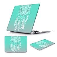 """Batianda MacBook Air 11"""" に専用 クリスタル ハード プラスチック カバー ケース グリンー ドリームキャッチャー パテント MacBook スリーブ(M345)"""