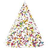 クラブパックof 48 Multicolored Sprinkle FeverパーティーFoil円錐大人用帽子7