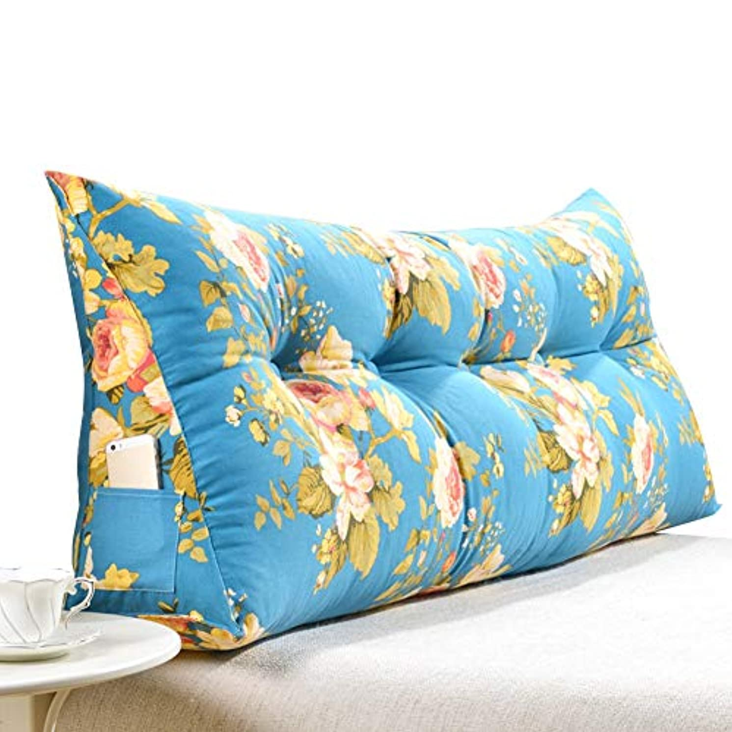 肝調査ウェーハLIANGLIANG クションベッドの背もたれ 読書用ベッドレスト枕 三角形 曲線 設計 フィラー 環境を守ること パールコットン (Color : C, Size : 200CM)