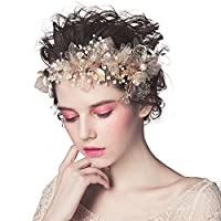 髪飾り 結婚式 ティアラ ヘッドアクセサリー フラワーヘッド 花冠 アクセサリー 花嫁 ウェディング ヘッドドレスフラワーガール
