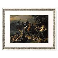 Chudjakow, Wassilij Grig,1826-1871 「Zaristische Grenzwachen uberraschen finnische Schmuggler. 1853.」 額装アート作品