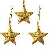 山の奥 星型装飾 飾りスター クリスマス飾り 新発想 防水 5cm 6球 ペンダント デコレーション アレンジ クリスマスツリー