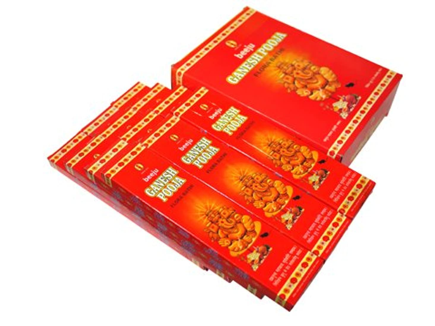 無知ビタミン風景BEEJU(ベージュ) ガネーシャプージャ香 スティック GANESH POOJA 12箱セット
