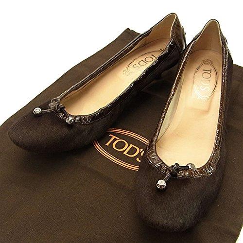 トッズ TOD'S パンプス 靴シューズ レディース ロゴ入金具付き 中古 (訳有り美品) C850