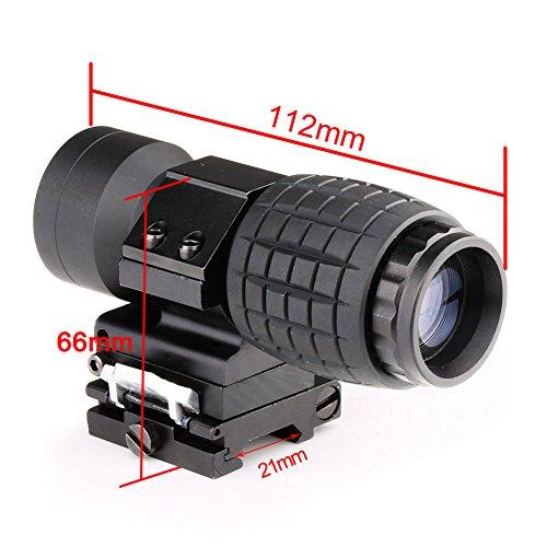 VERY100正規版 3倍ブースター ブースターレプリカ テレコンバーター レンズ 倍率コンバーター 折り畳み式スイングマウント付属 レール21mm ブラック Bory-3X-1