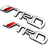 Deselen - LP-BS09J - Fjクルーザー、スーパーチャージャー、トンドラ、タコマ、4ランナー、ヤリス、カムリ、パック2(シルバー)のトヨタTRD車のエンブレムクロムステッカーデカールバッジラベル