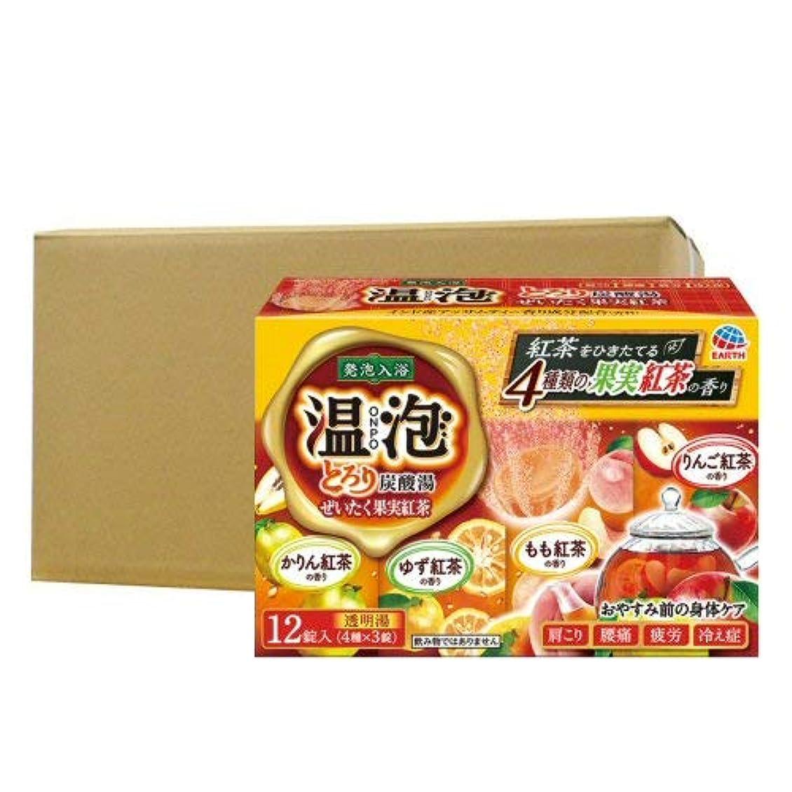 放散する放散する専門化する温泡 ONPO とろり炭酸湯 ぜいたく果実紅茶 12錠入り×16個