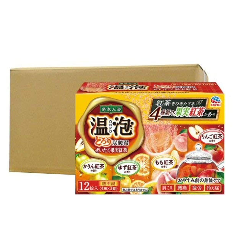 信頼性絵凝視温泡 ONPO とろり炭酸湯 ぜいたく果実紅茶 12錠入り×16個