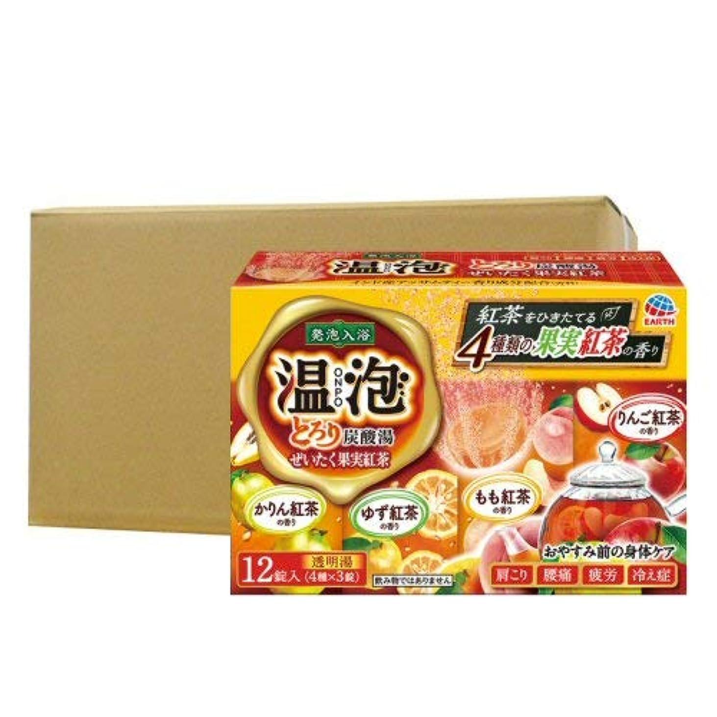 三くま権利を与える温泡 ONPO とろり炭酸湯 ぜいたく果実紅茶 12錠入り×16個