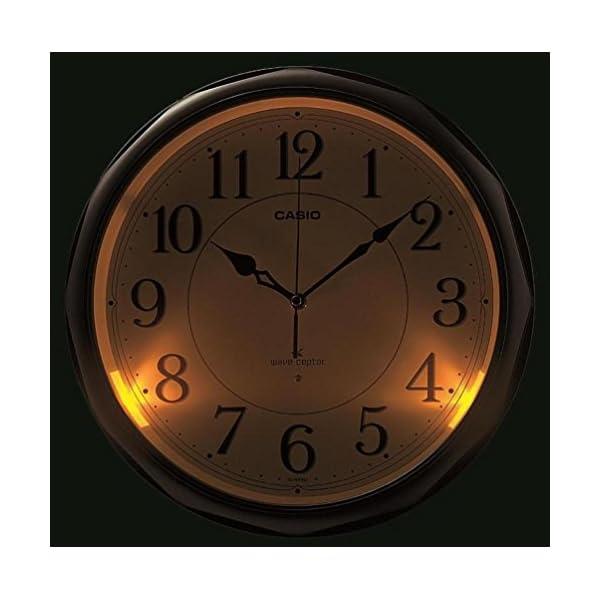 カシオ 夜見えライト付き 電波アナログ壁掛け時計の紹介画像2
