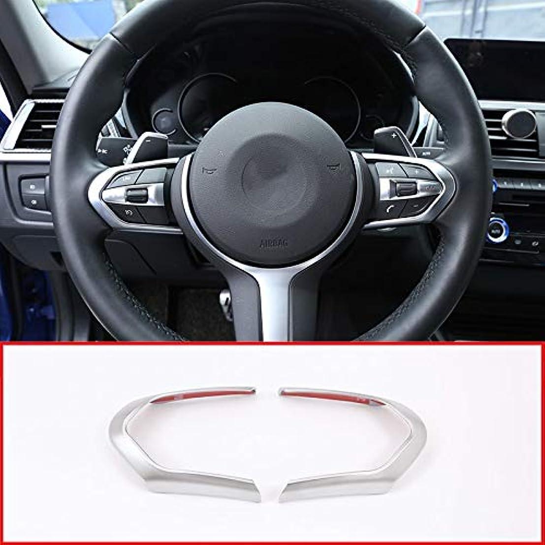 ガム致命的な一部For BMW M3 M4 M5 New 1 3 series X5M F10 F15 F16 X2 F48 F20 2018 Car ABS Chrome Steering Wheel Decoration Frame Cover Trim 2pcs
