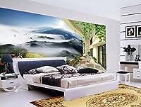 Wapel 3 次元の壁画のデザインクラウドファンタジーのワンダーランドスペースバルコニー 3 d の壁紙の壁画家の装飾不織壁紙 絹の布 400x280CM
