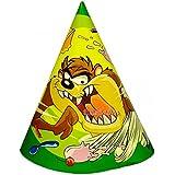 Looney Tunes ' Taz Chomp ' Cone Hats ( 8ct )