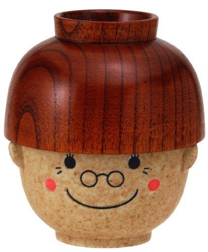 サンアート かわいい食器 「 まんぷくシリーズ 敬老 」 おばあちゃん(ばーば) 汁椀・茶碗 セット(レンジ・...