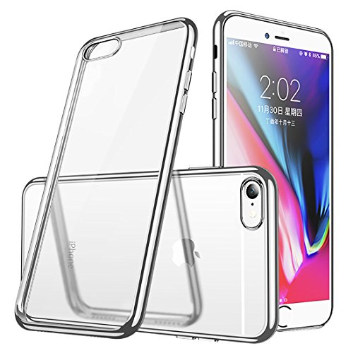 iphone6ケース透明TPU 防塵 指紋防止 ソフト クリ...