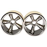 Traxxas 4174 Front Pro-Star 5-Spoke Chrome Wheels, Nitro, 2.2' [並行輸入品]