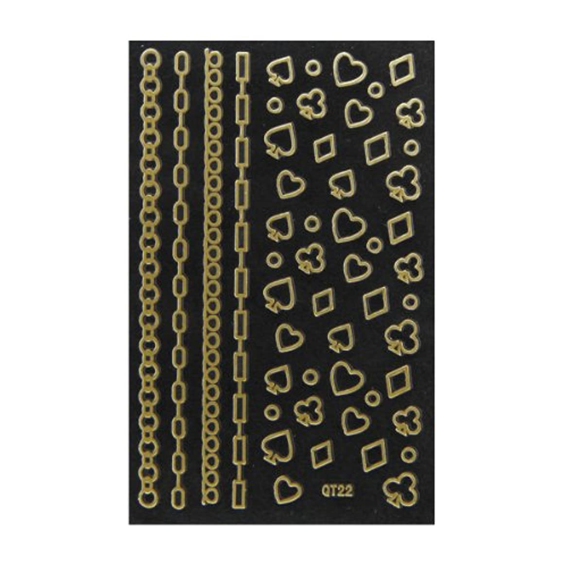 ラベルエキススリーブネイルシール 3D ネイルシート ファッションネイル メタリックシール22 (ネイル用品)