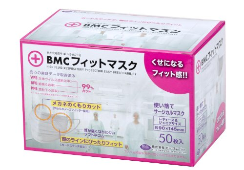 (PM2.5対応)BMC フィットマスク (使い捨てサージカ...