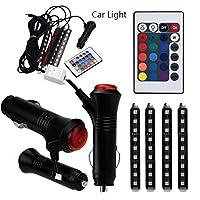 quaant car-styling LED for Car Charge内部RGBライトアクセサリー足車装飾 ブラック Quaant