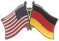 ボックスof 12ドイツ& Crossedの国旗ラペルピン、ドイツ&アメリカダブルFriendshipピンバッジ