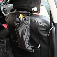 unakim --防水車ゴミ箱Garbageブラックシート背面収納ケースストレージバッグポケット