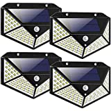 LED Solar Lights Outdoor,100LED Solar Motion Sensor Security Lights,Waterproof Solar Outdoor Wall Light for Gate,Yard,Garage